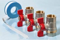 Клапаны для горячей воды Стоковые Изображения RF