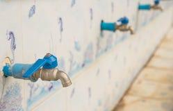 Клапан водопроводного крана крупного плана старый Стоковая Фотография