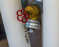 Клапан жидкостного огнетушителя Стоковые Изображения RF