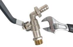Клапан и ключ воды Стоковые Фото