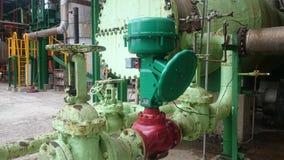 Клапан и модулирующая лампа для промышленных предприятий Стоковое Фото