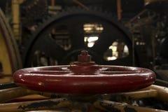Клапан красного цвета металла Стоковое Изображение