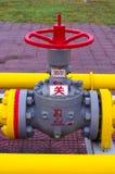 Клапан оборудования газопровода Стоковые Фото