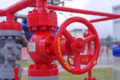 Клапан оборудования газопровода Стоковые Изображения RF