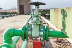 Клапан установленный на здании индустрии крыши Стоковое Изображение