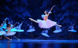 Клара полюбило все здесь, поступок летания- сперва четвертой страны снега поля - Щелкунчика балета Стоковое Изображение RF