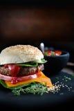 классика бургера говядины Стоковое Изображение RF