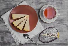 Классика Нью-Йорк чизкейка тортов Стоковые Изображения RF