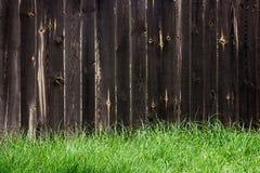 Классика постарела деревянная загородка как текстура предпосылки Стоковые Фото