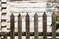 Классика постарела деревянная загородка как текстура предпосылки Стоковые Изображения RF
