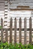 Классика постарела деревянная загородка как текстура предпосылки Стоковое Фото