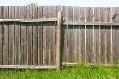 Классика постарела деревянная загородка как текстура предпосылки Стоковая Фотография RF