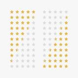 Классифицировать звезд вектор карандаша иллюстратора персонажей из мультфильма смешными установленный перями Стоковые Изображения RF