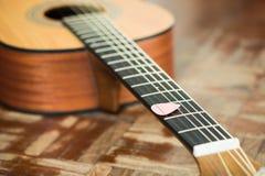 классицистическая гитара детали Стоковая Фотография RF