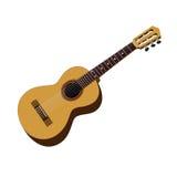Классицистическая гитара иллюстрация вектора