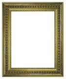 Классицистическая деревянная рамка изолированная на белой предпосылке Стоковая Фотография