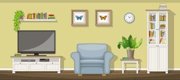 классицистическая живущая комната иллюстрация вектора