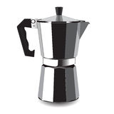 Классицистическая машина кофе для эспрессо также вектор иллюстрации притяжки corel Стоковое фото RF