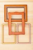 классицистическая рамка деревянная Стоковые Изображения RF