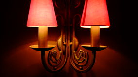 классицистическая стена светильника Стоковая Фотография