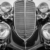 Классицистические винтажные детали автомобиля Стоковое Изображение