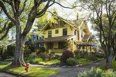 Классицистический американский пригородный дом Стоковое Фото