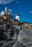 классицистический маяк стоковая фотография rf