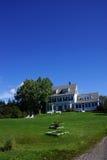 Классицистический дом Новой Англии Стоковое Изображение