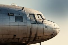 Классицистический старый авиалайнер Стоковое Фото