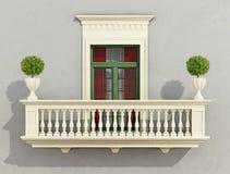 классицистический фасад Стоковые Изображения