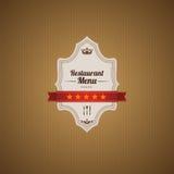 Классицистический шаблон меню ресторана Стоковая Фотография RF
