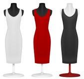 Классицистический шаблон платья. иллюстрация вектора