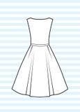 классицистическое платье Стоковая Фотография RF