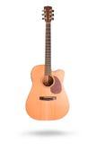 Классическая акустическая гитара изолированная на белой предпосылке Стоковое Фото