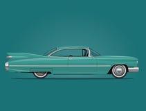 Классическая американская иллюстрация автомобиля Стоковые Изображения