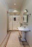 Классическая ванная комната с ливнем Стоковое Изображение RF