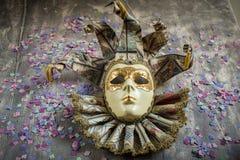 Классическая венецианская маска масленицы Стоковое фото RF