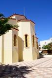 Классическая греческая церковь от желтого камня Стоковое фото RF