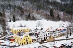 Классическая деревня Германии около замка Hohenschwangau Стоковая Фотография