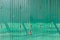 Классическая деревянная зеленая дверь стоковое фото rf