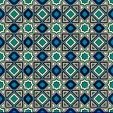 Классическая исламская безшовная картина арабская мозаика bluets также вектор иллюстрации притяжки corel Стоковое Изображение RF