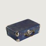 Классическая кожаная голубая сумка Стоковые Фото