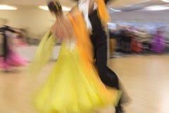 Классическая конкуренция танца, нерезкость движения Стоковые Изображения