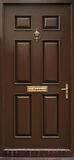 Классическая коричневая изолированная дверь Стоковое фото RF