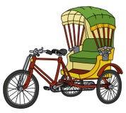 Классическая рикша цикла Стоковое Изображение