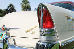 Классическая роскошная американская деталь лампы кабеля автомобиля стоковые изображения rf