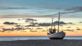 Классическая рыбацкая лодка Стоковые Фото
