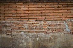 Классическая старая коричневая предпосылка стены Стоковая Фотография