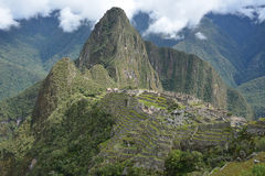 Классическая съемка Machu Picchu Стоковое Фото