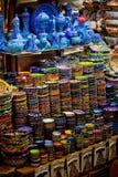 Классическая турецкая керамика на рынке стоковая фотография rf